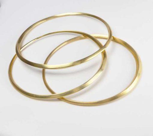 Oblique Bangle in 18ct Gold