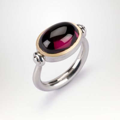 Garnet Swivel Ring