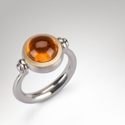 Mandarin Garnet Swivel Ring