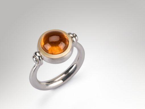 Mandarin Garnet Swivel Ring