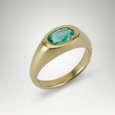 Paraiba Signet Tourmaline Ring by Abby Mosseri