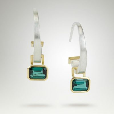 Tourmaline Hoops by Abby Mosseri