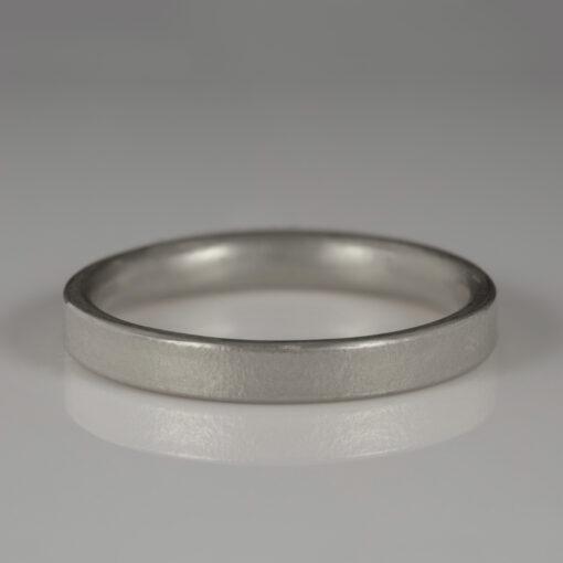 Unusual Handmade Wedding ring by Abby Mosseri 18ct white gold