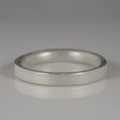Unusual Handmade Wedding ring by Abby Mosseri 9ct white gold