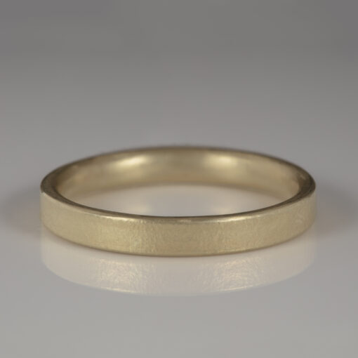 Unusual Handmade Wedding ring by Abby Mosseri 9ct yellow gold