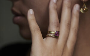 Rings of Love and Loyalty-PinkHammer Ring and braid ring by goldsmith and jeweller Abby Mosseri